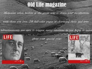 Life Magazine at Oldlifemagazines.com