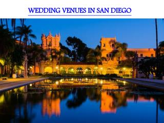WEDDING VENUES IN SAN DIEGO