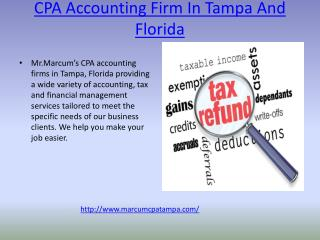 CPA Accounting Firm In Tampa And Florida