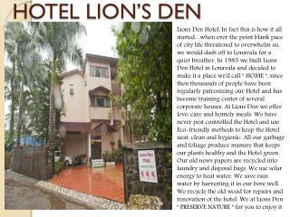 Hotel Lion's Den
