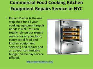 Commercial Food Equipment Repair