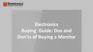 Electronics Buying Guide: Dos and Don'ts of Buying a Monitor