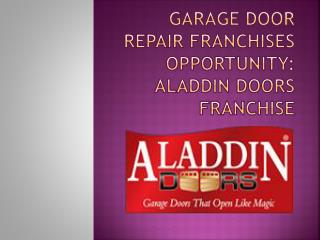 Best Garage Door Repair Franchise Opportunity in Illinois