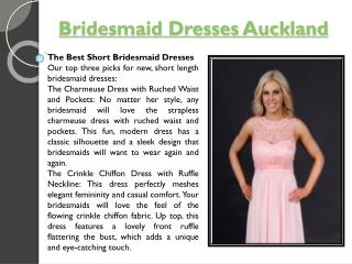 Bridesmaid Dresses Wellington