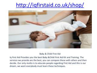 First Aid Kit & Training