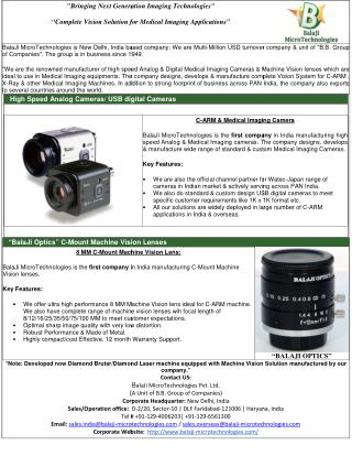 BALAJI MICROTECHNOLOGIES- ccd camera for c-arm,