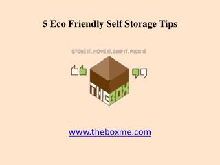 5 Eco Friendly Dubai Self Storage Tips