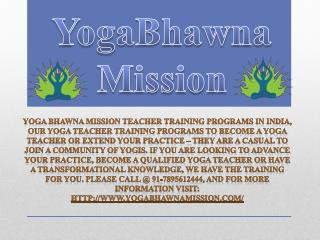 Best yoga teacher training program