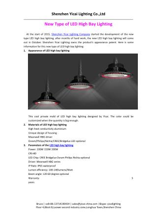 New Type of LED High Bay Lighting