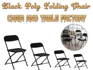 Black Poly Folding Chair - Folding Chair Larry Hoffman
