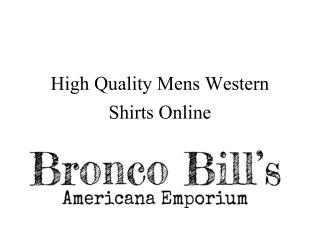 High Quality Mens Western Shirts Online