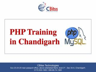 PHP training in Chandigarh
