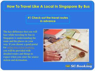How to travel like a local in Singapore by bus