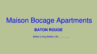 Apartments In Baton Rouge, Louisiana