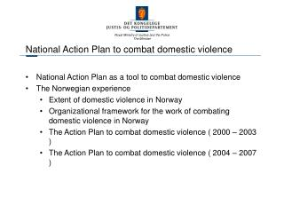 National Action Plan to combat domestic violence