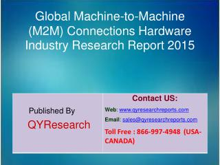 Global Machine-to-Machine (M2M) Connections Hardware Market 2015 Industry Growth, Overview, Analysis, Share and Trends