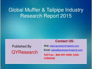 Global Muffler & Tailpipe Market 2015 Industry Analysis, Research, Share, Trends and Growth