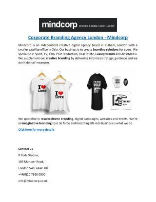 Corporate Branding Agency London - Mindcorp