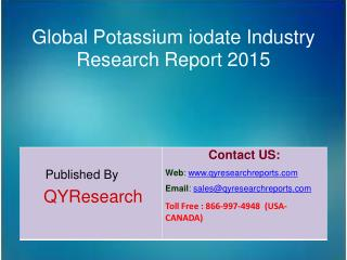 Global Potassium iodate Market 2015 Industry Study, Size, Research, Analysis, Applications, Development, Growth, Insight