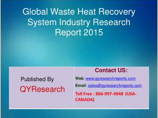 Global Waste Heat Recovery System Market 2015 Industry Forecasts, Analysis, Applications, Research, Trends, Development,