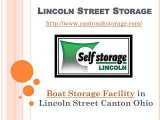Boat Storage Facility in Lincoln Street Canton Ohio