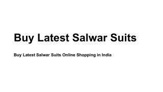 Buy Latest Salwar Suits Online Shopping in India