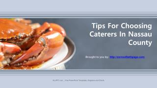 Tips For Choosing Caterers In Nassau County