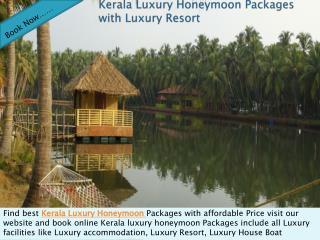 Kerala Luxury Honeymoon Packages with Luxury Resort