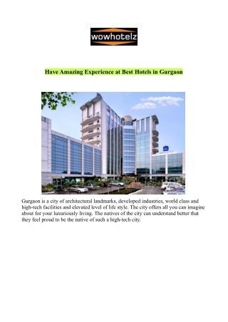 Best Hotels in Gurgaon