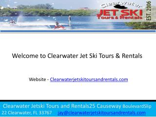 Clearwater beach jet ski rental