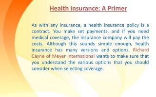 Health Insurance: A Primer