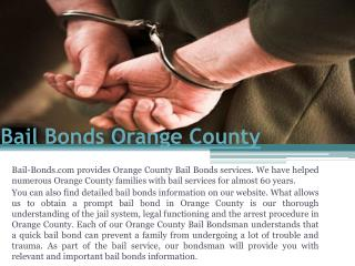 Bail Bond Orange County
