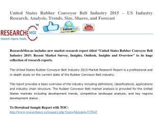 United States Rubber Conveyor Belt Industry 2015 Market Research Report