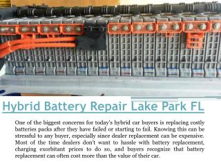 Hybrid Battery Replacement FL