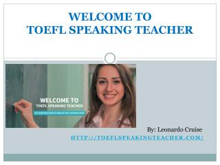 Toefl speaking Teacher