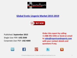 Overview on Erotic Lingerie Market and Growth Report 2015-2019
