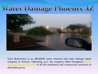 water damage repair phoenix