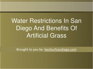 Water Restrictions In San Diego And Benefits Of Artificial Grass