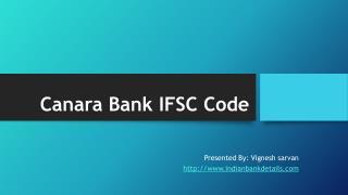 IFSC codes Canara Bank