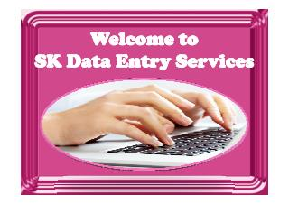 Data entry services online