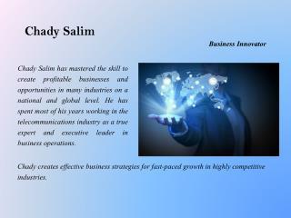 Chady Salim - Business Innovator