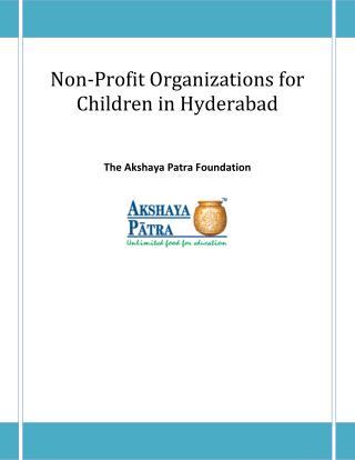 Non-Profit Organizations for Children in Hyderabad