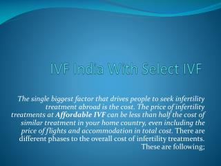 IVF India With Select IVF