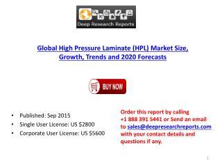 Global High Pressure Laminate (HPL) Market Research Report 2015