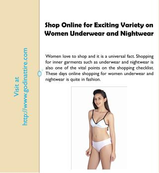 Women Underwear and Nightwear