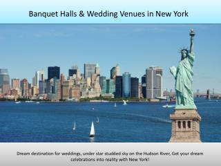 Banquet halls, party halls, wedding venues in New York