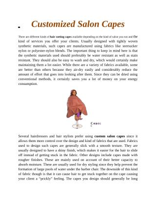 Customized Salon Capes