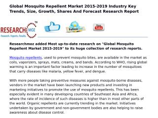 Global Mosquito Repellent Market 2015-2019