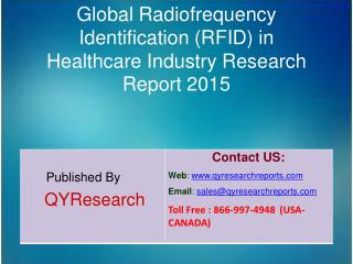 Global Radiofrequency Identification (RFID) in Healthcare Market 2015 Industry Forecasts, Analysis, Applications, Resear