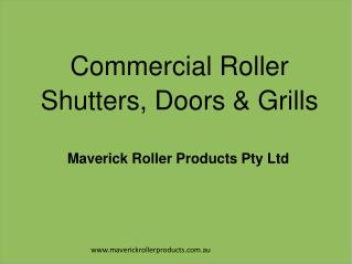 Commercial Roller Shutters, Doors & Grills in Sydney